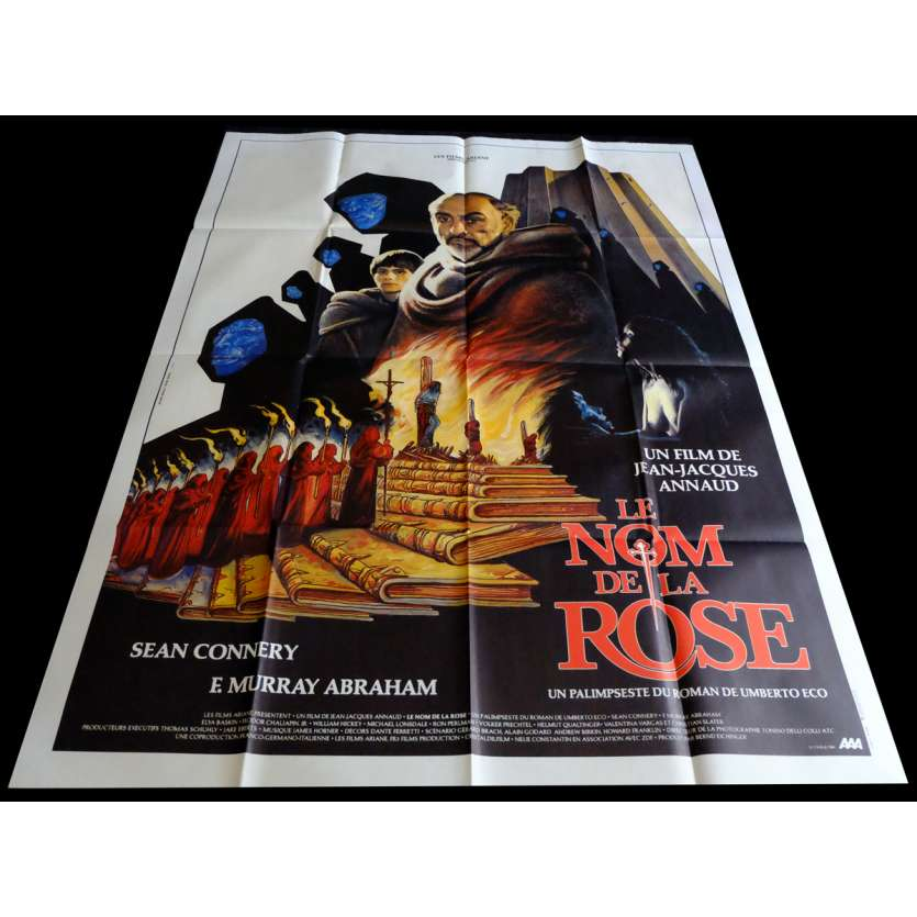 NAME OF THE ROSE French Movie Poster 47x63 - 1986 - Jean-Jacques Annaud, Sean Connery