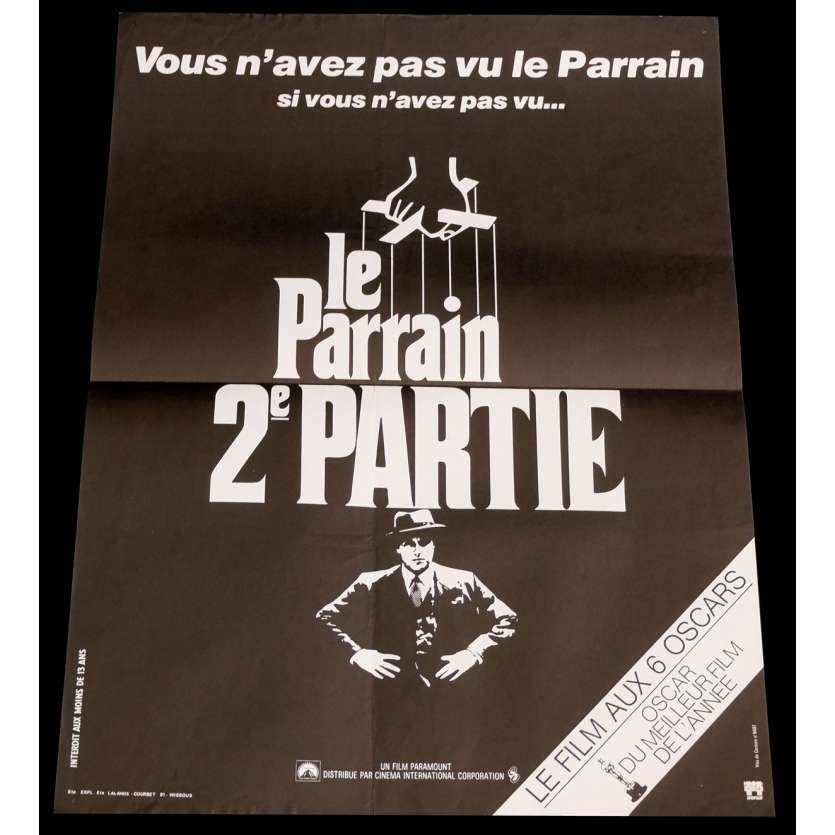 LE PARRAIN 2 Affiche de film 40x60 - 1974 - Robert de Niro, Francis Ford Coppola