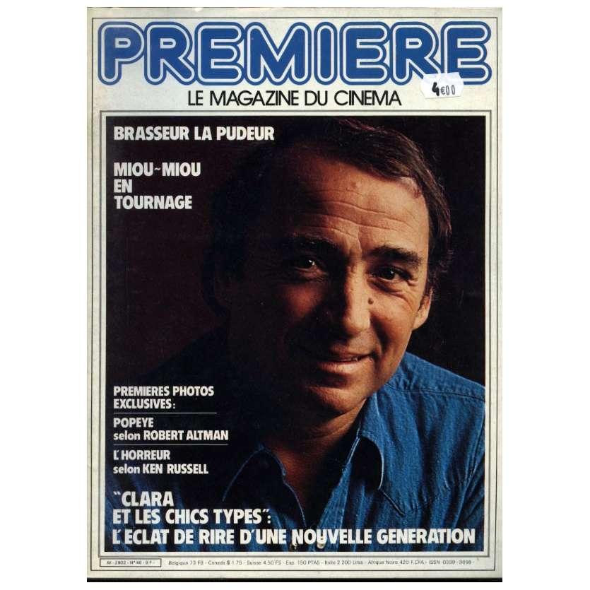 PREMIERE N°46 Magazine - 1981 - Claude Brasseur