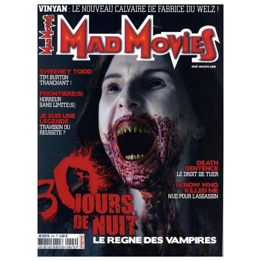 MAD MOVIES N°204 Magazine - 2008 - 30 Jours de nuit