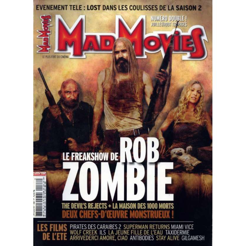 MAD MOVIES N°188 Magazine - 2006 - Rob Zombie