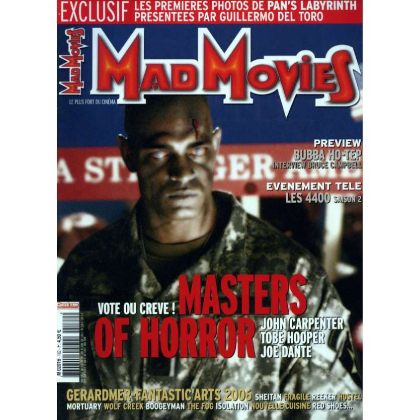 MAD MOVIES N°182 Magazine - 2006 - Masters of Horror