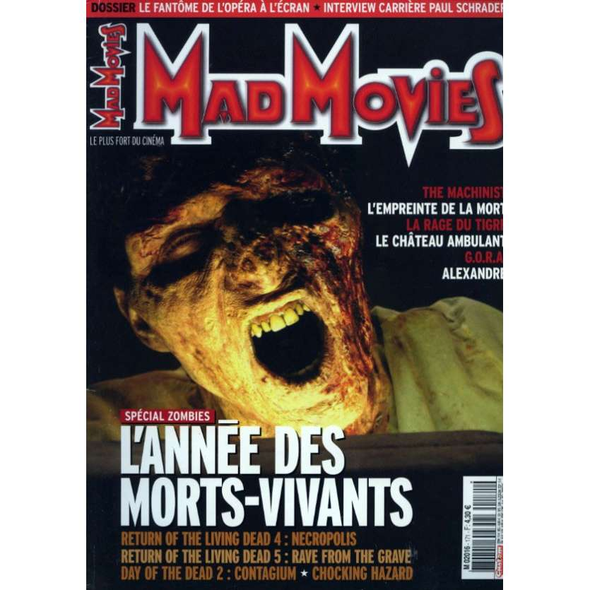 MAD MOVIES N°171 Magazine - 2005 - Spécial Zombies
