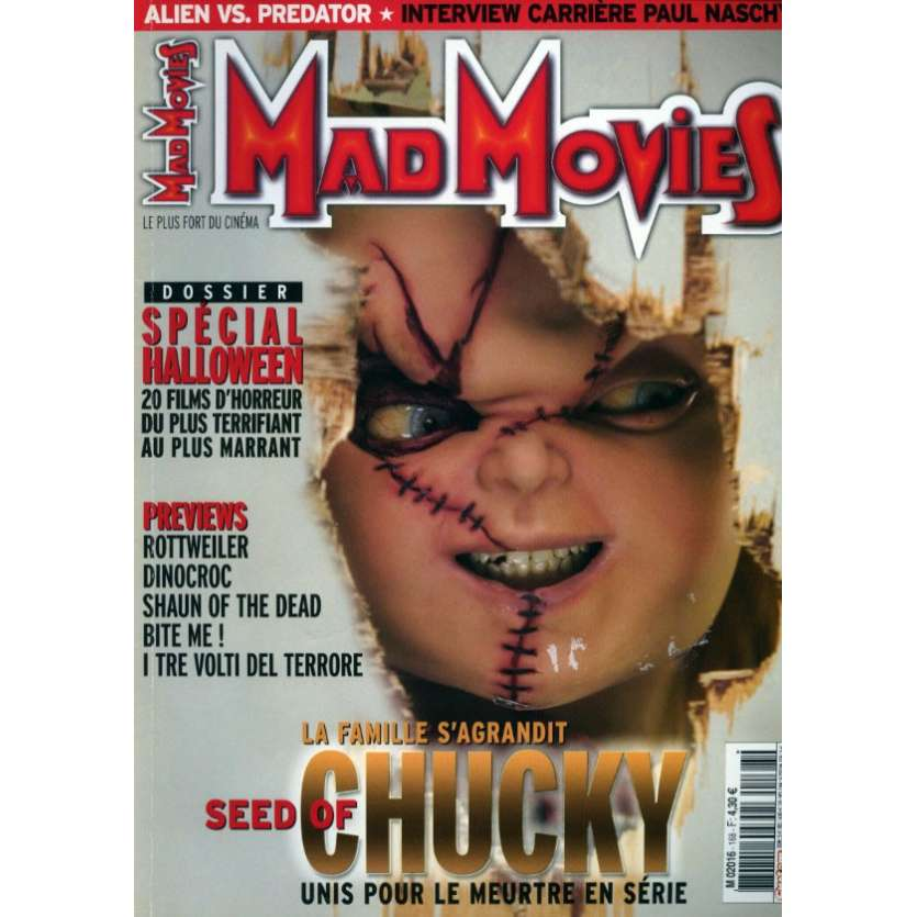 MAD MOVIES N°168 Magazine - 2004 - Seed of Chucky