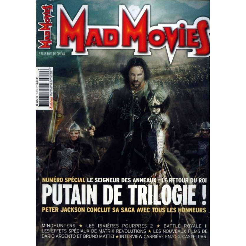 MAD MOVIES N°159 Magazine - 2003 - Le Retour du Roi