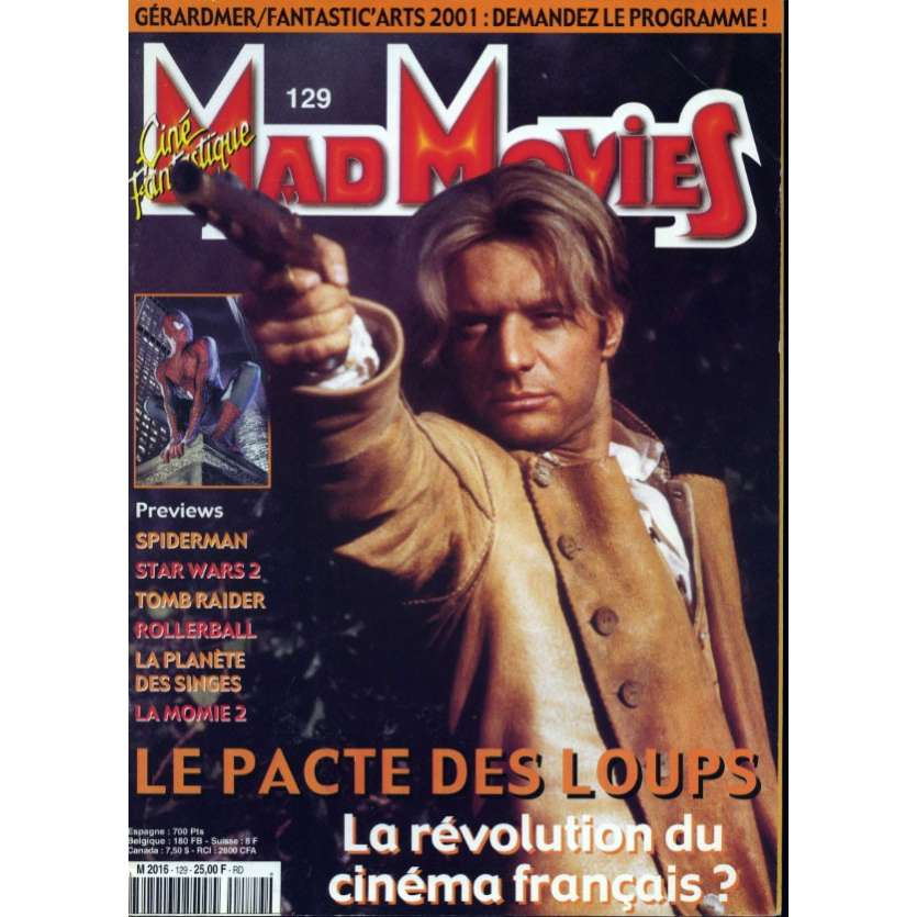 MAD MOVIES N°129 Magazine - 2001 - Le Pacte des Loups