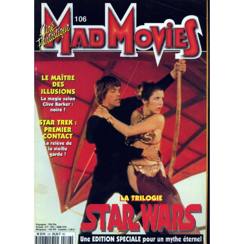 MAD MOVIES N°106 Magazine - 1997 - Trilogie Star Wars