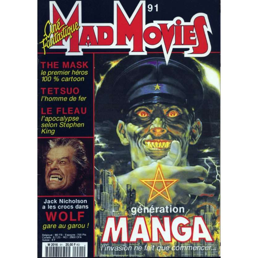 MAD MOVIES N°91 Magazine - 1994 - Manga