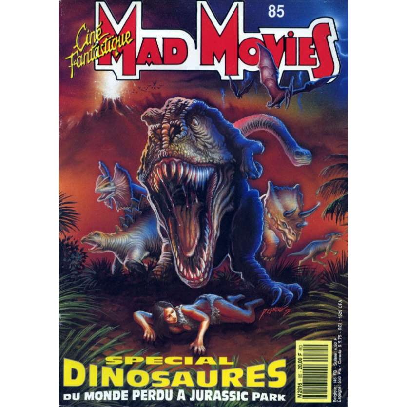 MAD MOVIES N°85 Magazine - 1993 - Dinosaures