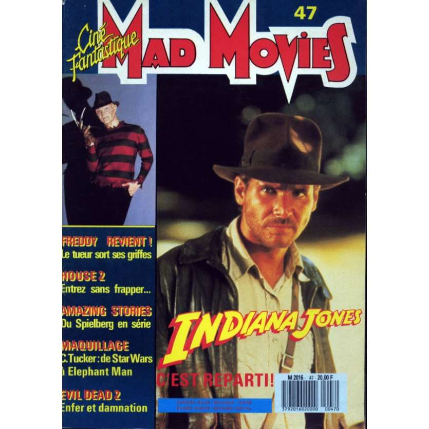 MAD MOVIES N°47 Magazine - 1988 - Indiana Jones - Freddy