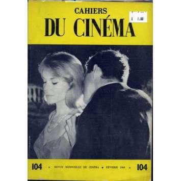 CAHIERS DU CINEMA N°104 Magazine - 1960 - Revue Mensuelle de cinéma