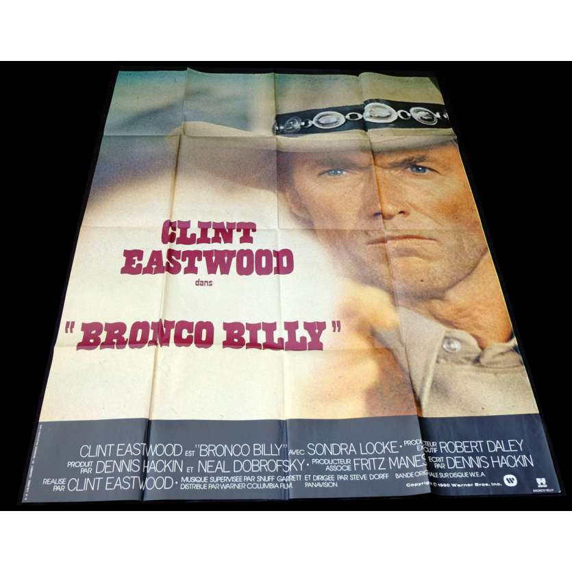 BRONCO BILLY Affiche de film 120x160 - 1980 - Clint Eastwood, Clint Eastwood