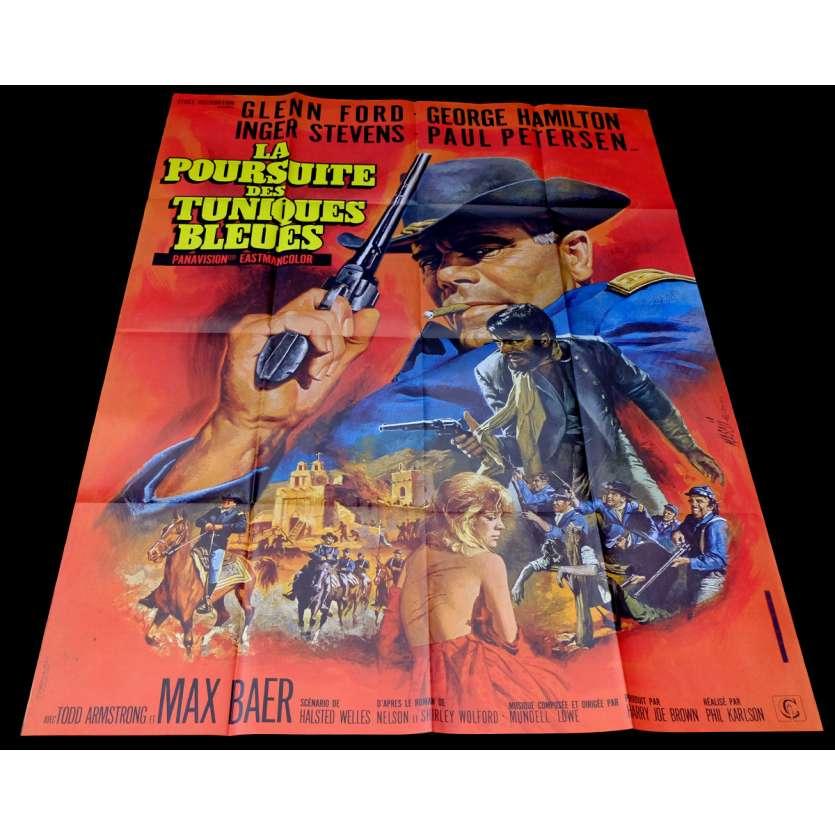 LA POURSUITE DES TUNIQUES BLEUES Affiche de film 120x160 - 1967 - Glen Ford, Phil Karlson