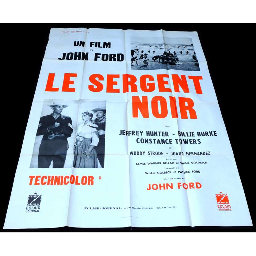 SERGEANT RUTLEDGE French Movie Poster 47x63 - 1960 - John Ford, Woody Strode