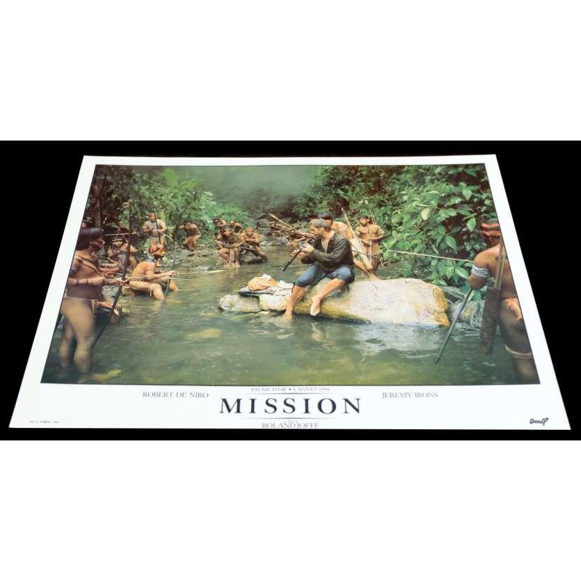 MISSION French DeLuxe Lobby Card 3 11x15 - 1986 - Roland Joffé, Robert de Niro