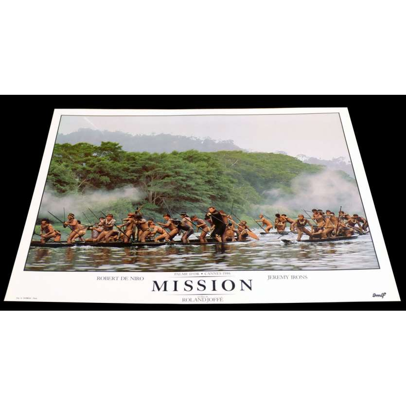 MISSION French DeLuxe Lobby Card 6 11x15 - 1986 - Roland Joffé, Robert de Niro