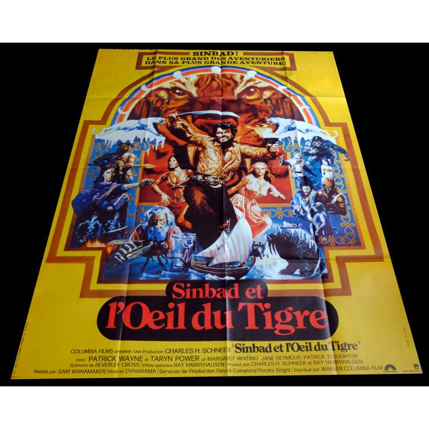 SINBAD AND THE EYE OF THE TIGER French Movie Poster 47x63 - 1977 - Ray Harryhausen, Jane Seymour
