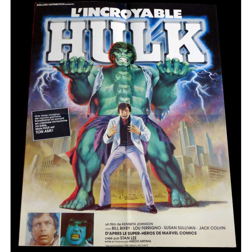 HULK French Movie Poster 9x12 - 1977 - Kenneth Johnson, Bill Bixby