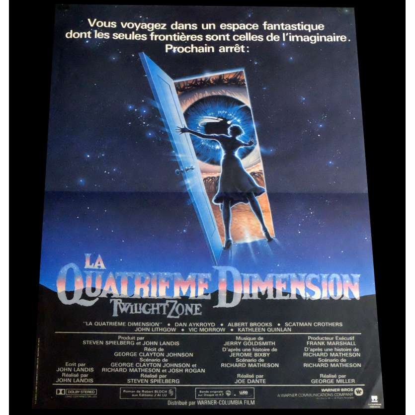 LA QUATRIEME DIMENSION Affiche de film 40x60 - 1983 - John Lightow, Steven Spielberg