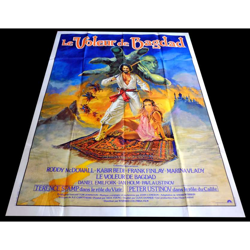 THIEF OF BAGDAD French Movie Poster 47x63 - R1980 - Powell-Pressburger, Conrad Veidt
