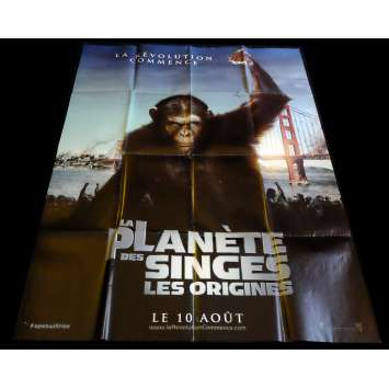 PLANET OF THE APES ORIGINS French Movie Poster 47x63 - 2011 - Rupert Wyatt, Andy Serkis
