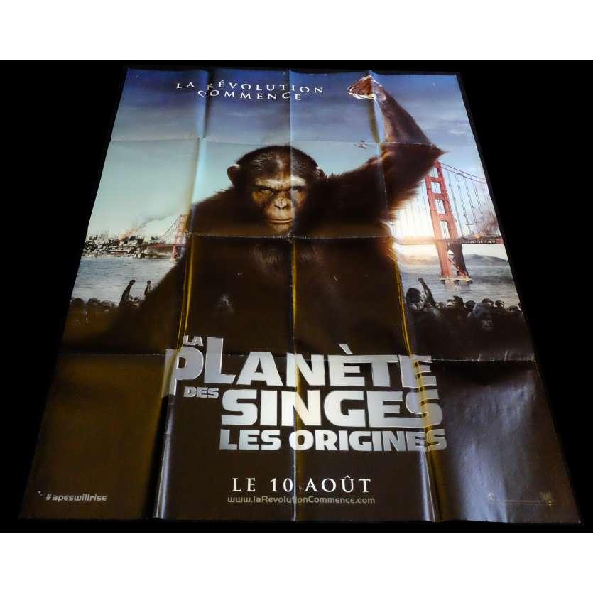 LA PLANETE DES SINGES - LES ORIGINES Affiche de film 120x160 - 2011 - Andy Serkis, Rupert Wyatt