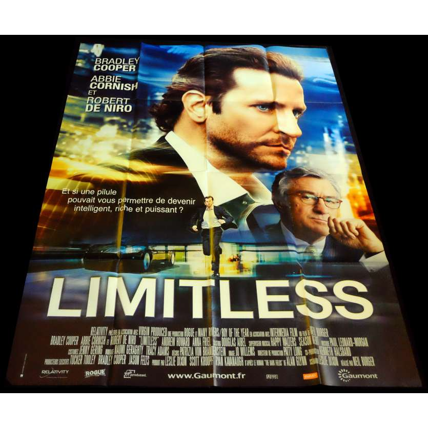 LIMITLESS French Movie Poster 47x63 - 2011 - Neil Burger, Bradley Cooper