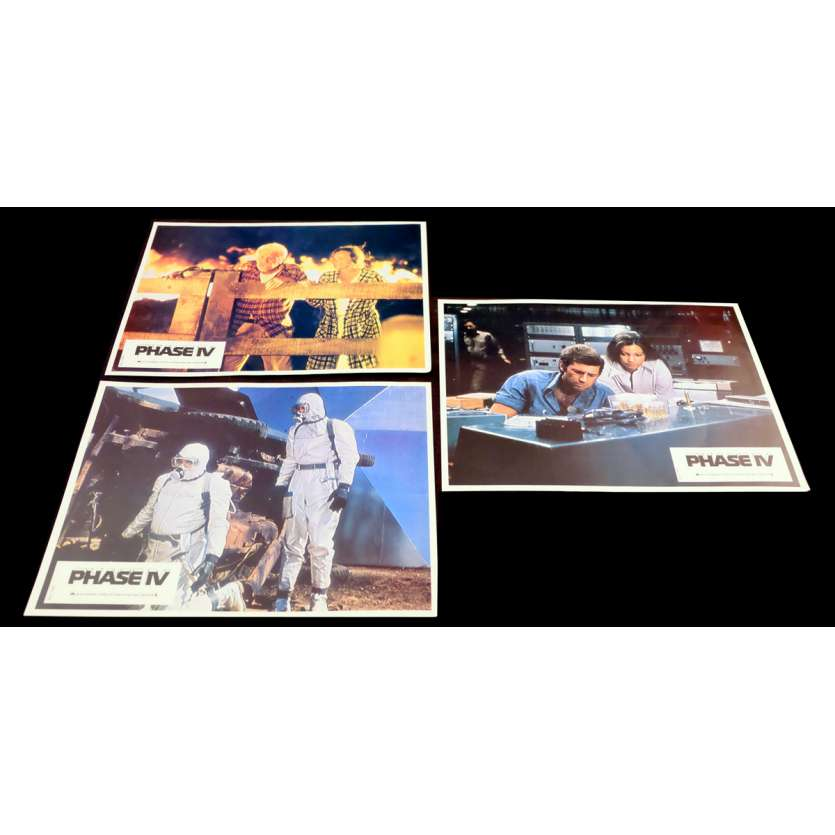 PHASE IV French Lobby Cards 9x12 - 1974 - Saul Bass, Nigel Davenport
