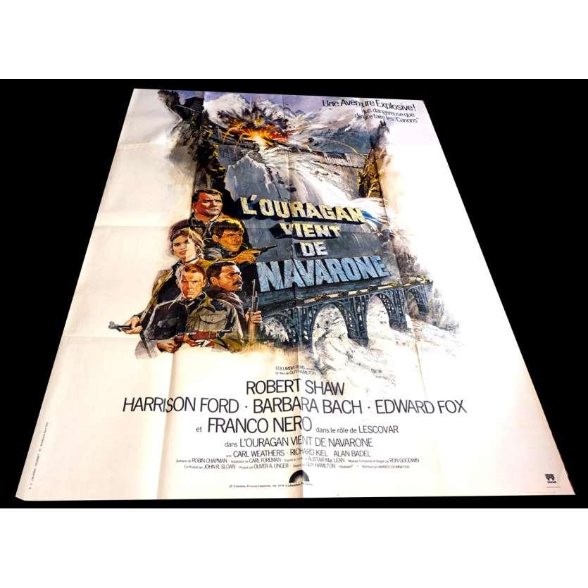 L'OURAGAN VIENT DE NAVARONE Affiche de Film 120x160 - 1978 - Harrison Ford, Guy Hamilton