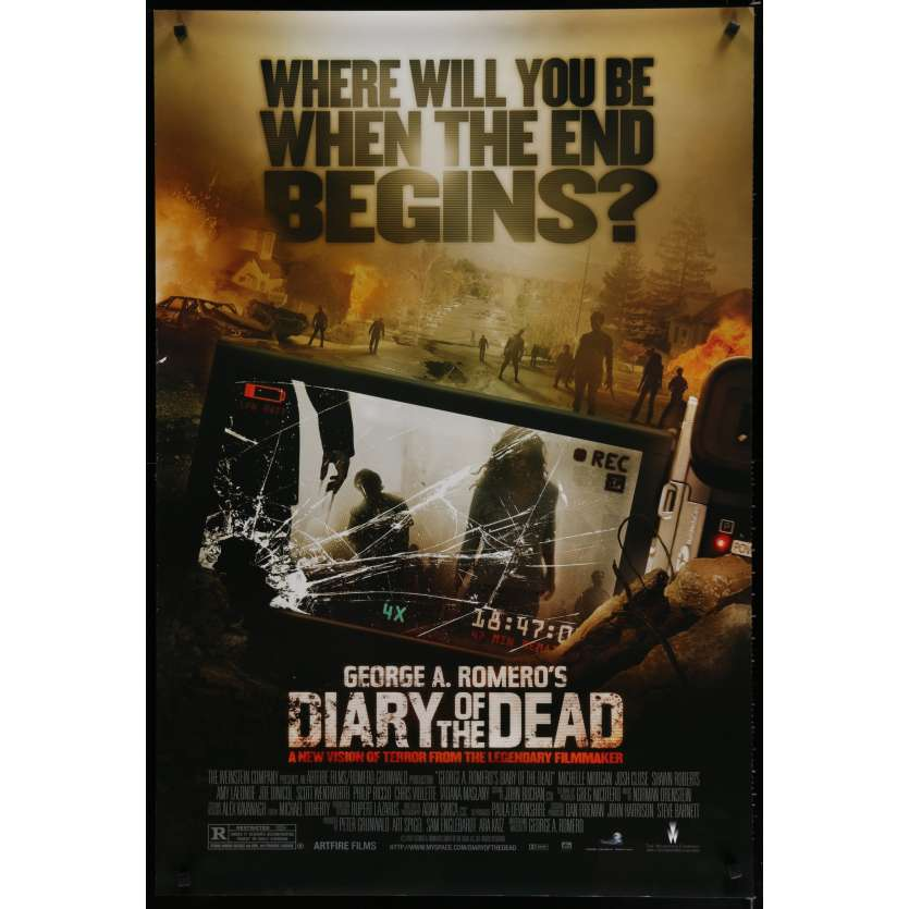 DIARY OF THE DEAD US Movie Poster 29x41 - 2007 - George A. Romero, Michelle Morgan