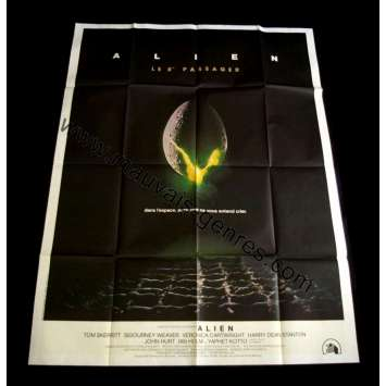 ALIEN French Movie Poster 47x63 - 1979 - Ridley Scott, Sigourney Weaver