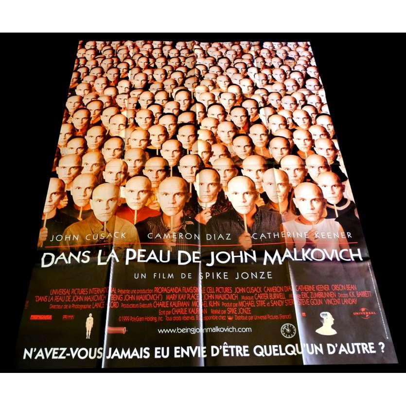 DANS LA PEAU DE JOHN MALKOVITCH Affiche de film 120x160 - 1999 - John Cusack, Spike Jonze