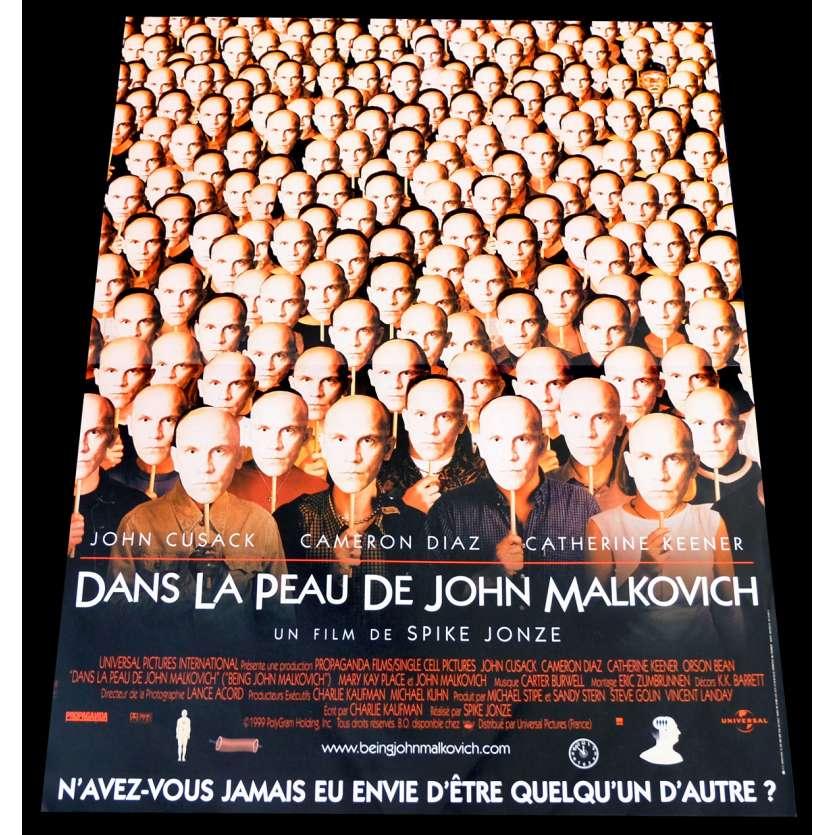 BEING JOHN MALKOVITCH French Movie Poster 15x21 - 1999 - Spike Jonze, John Cusack