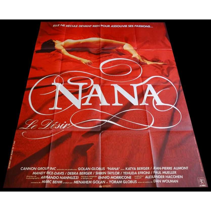NANA French Movie Poster 47x63 - 1983 - Dan Wolman, Katya Berger
