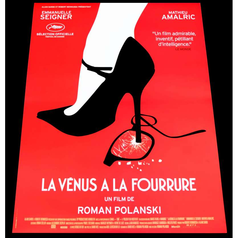 LE VENUS A LA FOURRURE French Movie Poster 15x21 - 2013 - Roman Polanski, Emmanuelle Seigner