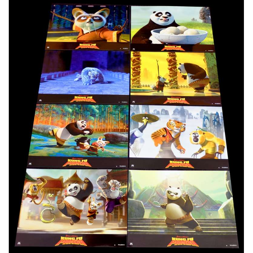 KUNG FU PANDA French Lobby Cards Set X8 9x12 - 2008 - Mark Osborne, Jack Black