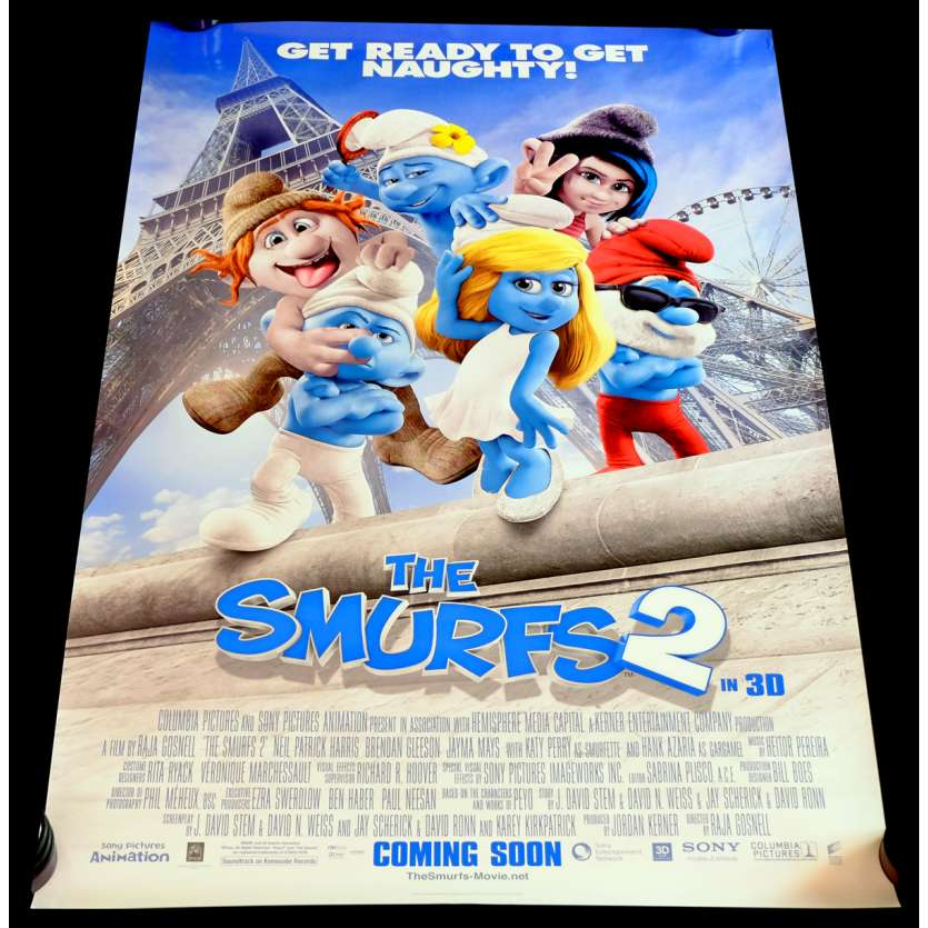 THE SMURFS 2 US Movie Poster 29x41 - 2013 - Raja Gosnell, Brendan Gleeson