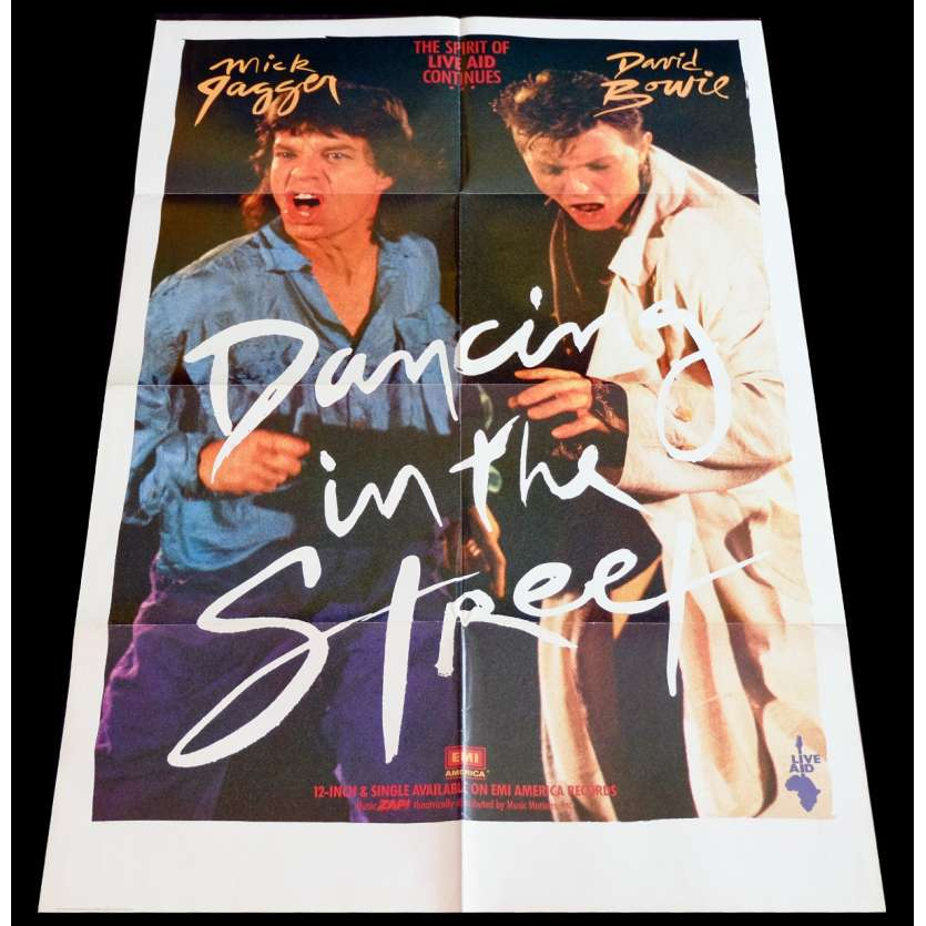 DANCING IN THE STREET Affiche de film 69x104 - 1983 - David Bowie, Mick Jagger
