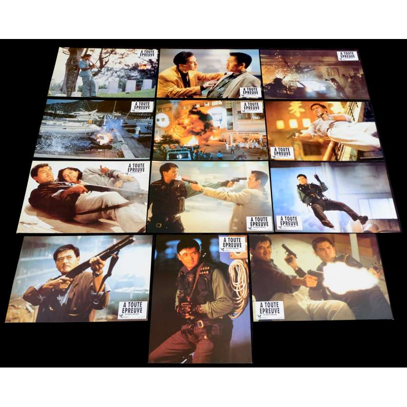 HARD BOILED French Lobby Cards Set X12 9x12 - 1986 - John Woo, Chow Yun-fat