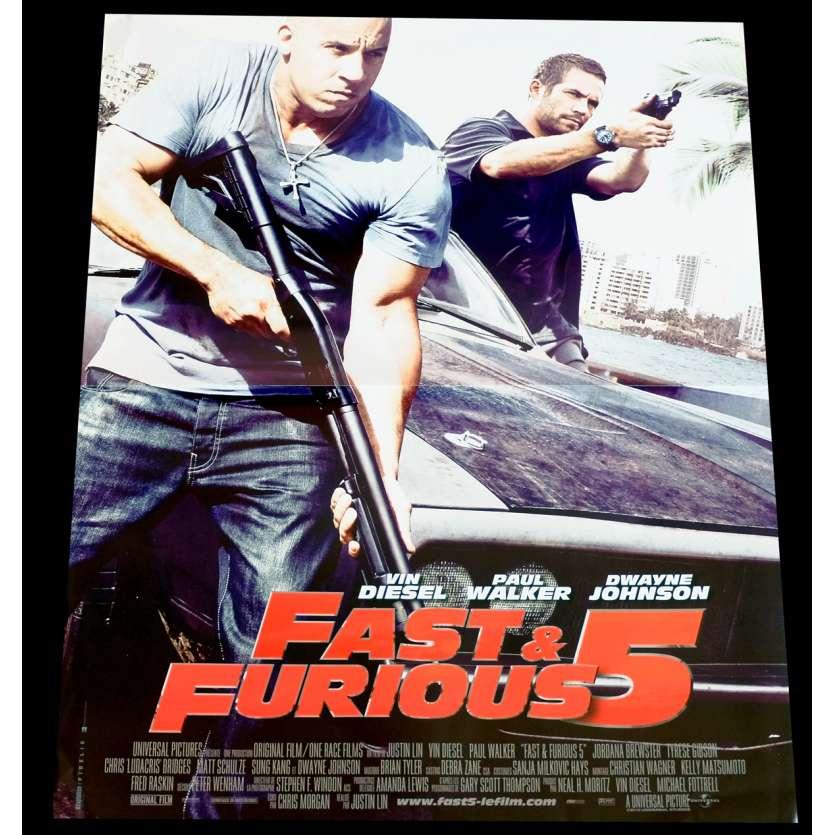 FAST AND FURIOUS 5 Affiche de film 40x60 - 2011 - Vin Diesel, Justin Lin
