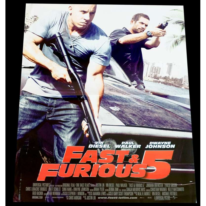 FAST AND FURIOUS 5 French Movie Poster 15x21 - 2011 - Justin Lin, Vin Diesel