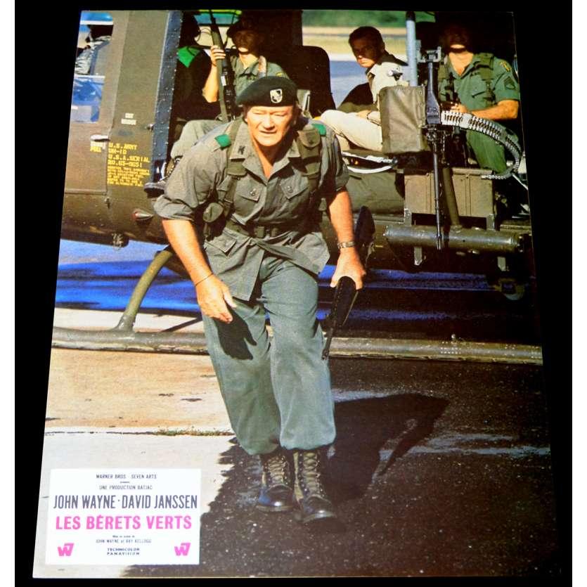 GREEN BERETS French Lobby Card 9x12 - 1968 - Ray Kellogg, John Wayne