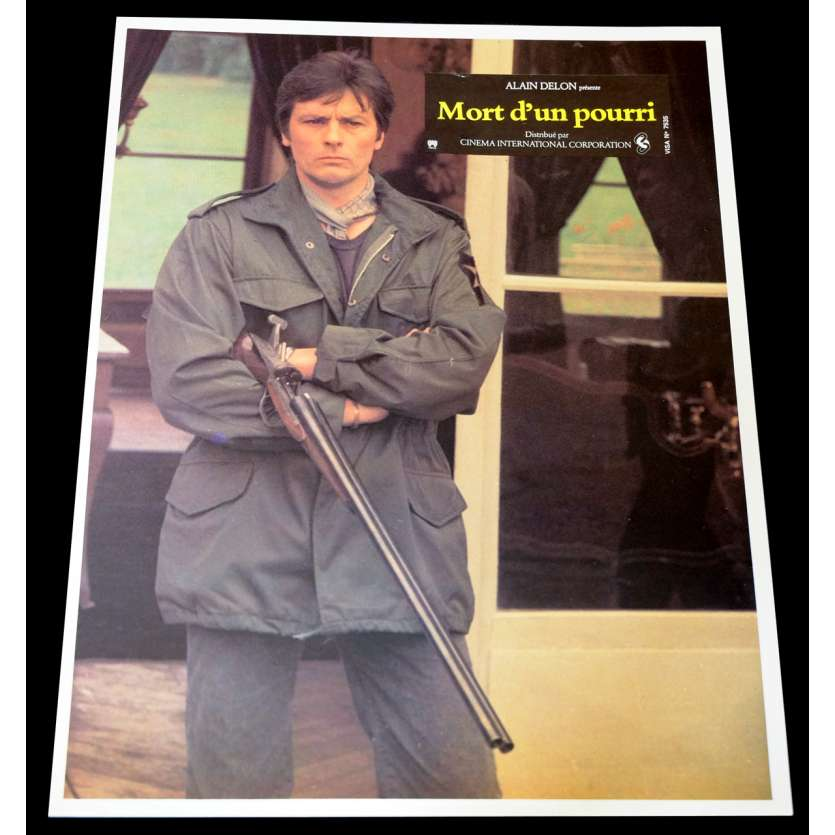 THE TWISTED DETECTIVE French Lobby Card 9x12 - 1977 - Georges Lautner, Alain Delon