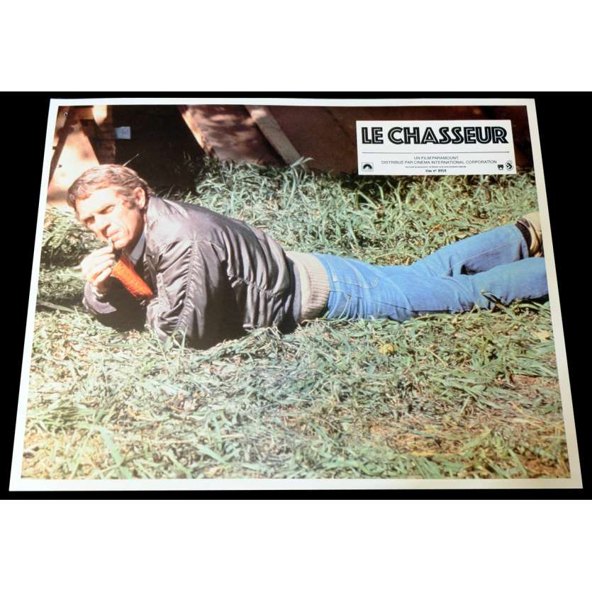 HUNTER French Lobby Card 3 9x12 - 1980 - Buzz kulick, Steve McQueen