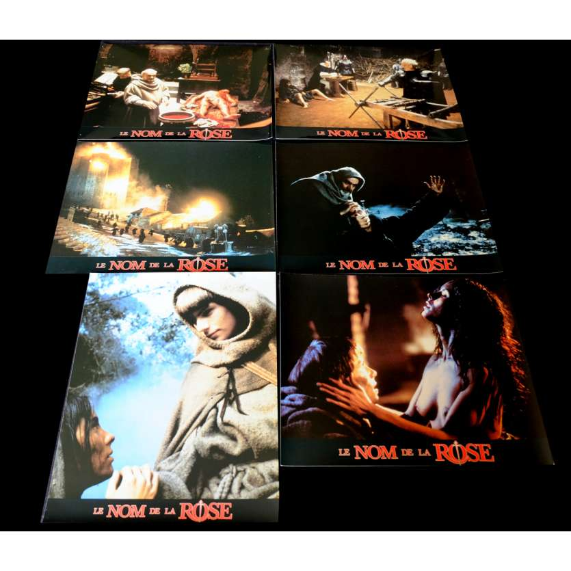 NAME OF THE ROSE French Lobby Cards Set x6 9x12 - 1986 - Jean-Jacques Annaud, Sean Connery