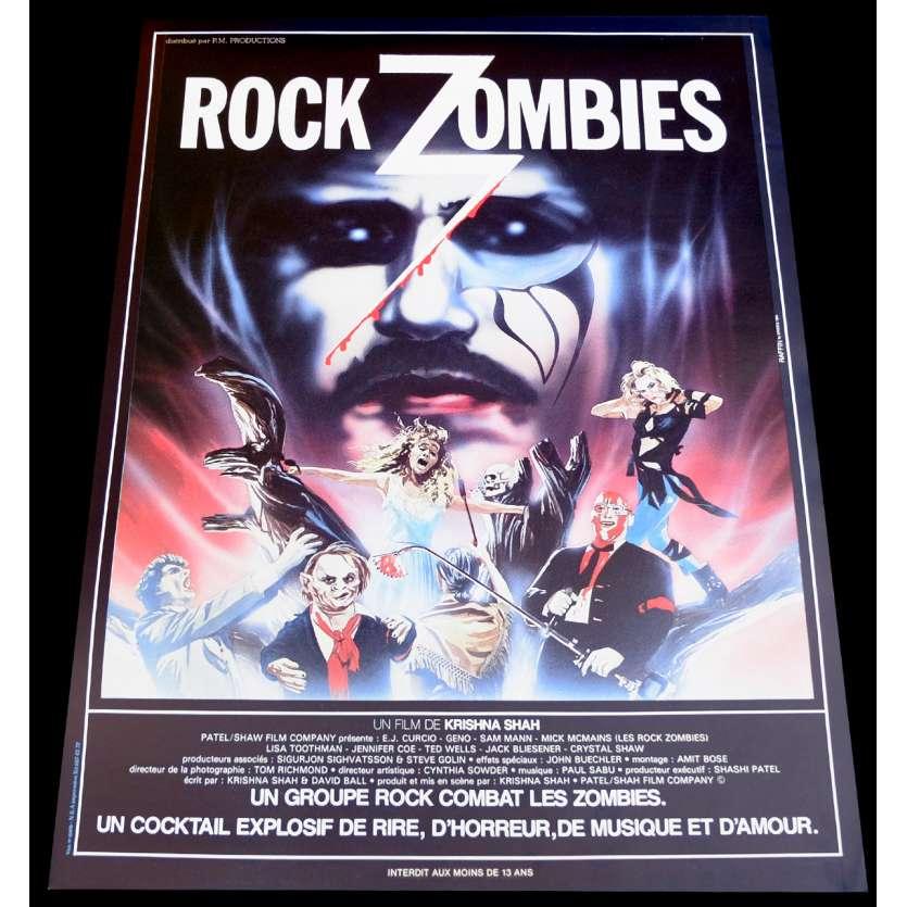 ROCK ZOMBIE French Movie Poster 15x21 - 1984 - Krishna Shah, E.J. Curcio