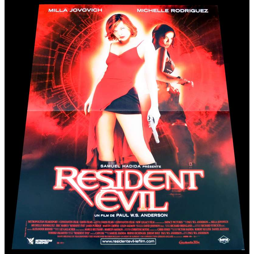 RESIDENT EVIL French Movie Poster 15x21 - 2002 - Paul W. S. Anderson, Milla Jovovich