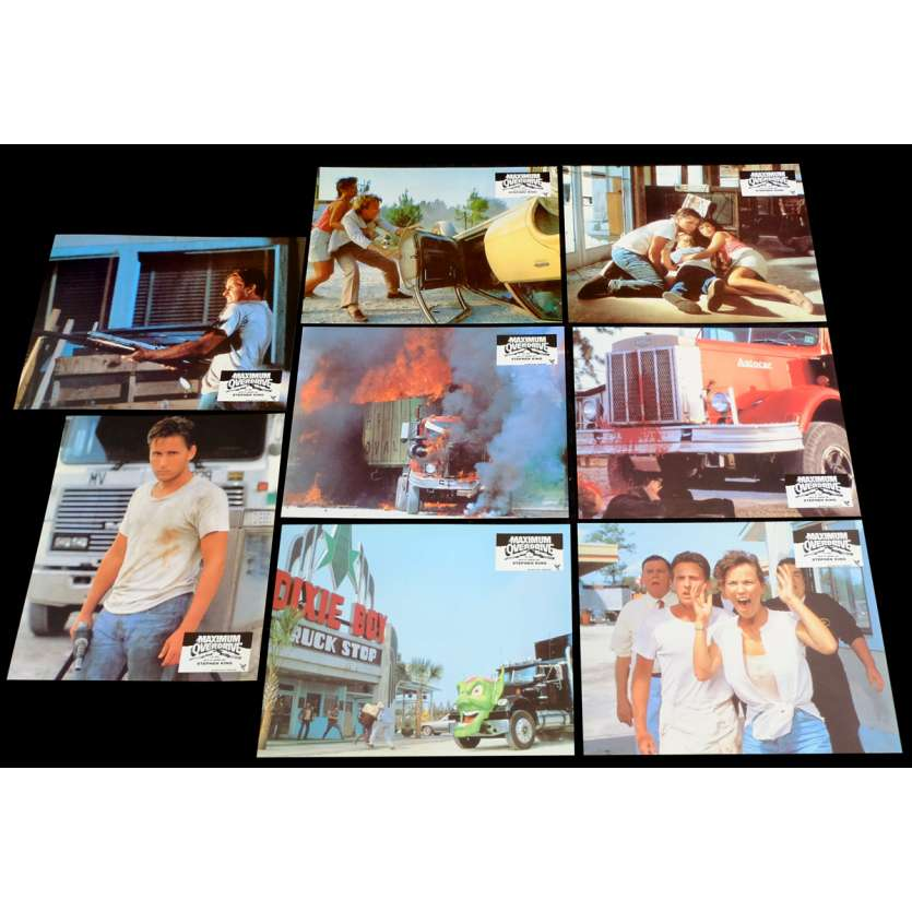 MAXIMUM OVERDRIVE Photos de film X8 21x30 - 1986 - Emilio Estevez, Stephen King