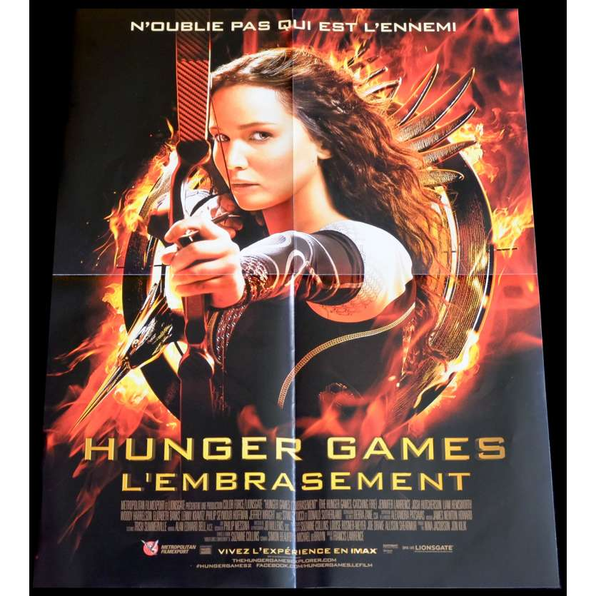 HUNGER GAMES II French Movie Poster 15x21 - 2014 - Francis Lawrence, Jennifer Lawrence