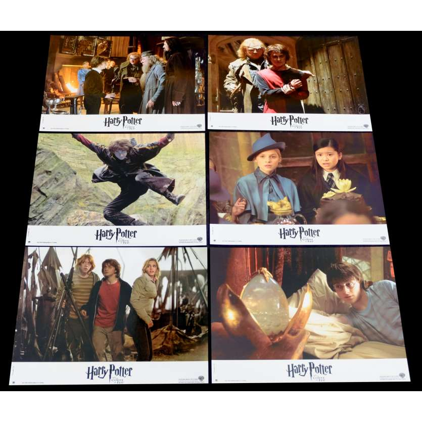 HARRY POTTER IV French Lobby Cards Set X6 9x12 - 2005 - Mike Newell, Daniel Radcliffe